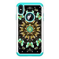 Недорогие Кейсы для iPhone 8 Plus-Кейс для Назначение Apple iPhone XR / iPhone XS Max Стразы / С узором Кейс на заднюю панель Бабочка Твердый Кожа PU для iPhone XS / iPhone XR / iPhone XS Max