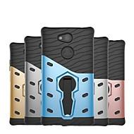 preiswerte Handyhüllen-Hülle Für Sony Xperia XZ1 kompakt / Xperia XZ2 Compact Stoßresistent / mit Halterung Rückseite Rüstung Hart PC für Xperia XZ2 Compact / Xperia XZ2 / Xperia XZ1 Compact