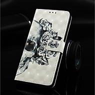 お買い得  携帯電話ケース-ケース 用途 Huawei Huawei Mate 20 Lite / Huawei Mate 20 Pro ウォレット / カードホルダー / スタンド付き フルボディーケース スカル ハード PUレザー のために Huawei Nova 3i / Huawei P Smart Plus / Huawei Mate 20 lite