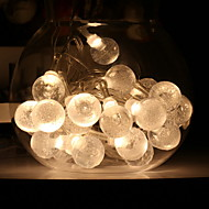 cheap -5m String Lights 20 LEDs Warm White Decorative AA Batteries Powered 1 set
