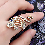 cheap -Women's Hollow Out Ring Rhinestone Alloy Peacock Ladies Stylish Classic Ring Jewelry Gold For Daily 6 / 7 / 8 / 9