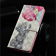 Недорогие Чехлы и кейсы для Galaxy Note-Кейс для Назначение SSamsung Galaxy Note 9 / Note 8 Кошелек / Бумажник для карт / со стендом Чехол Животное Твердый Кожа PU для Note 9 / Note 8