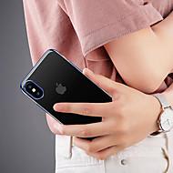 Etui Til Apple iPhone X Stødsikker / Transparent Bagcover Ensfarvet Blødt TPU for iPhone X