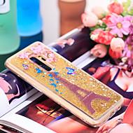 Недорогие Чехлы и кейсы для Galaxy S9 Plus-Кейс для Назначение SSamsung Galaxy S9 Plus Защита от удара / Сияние и блеск Кейс на заднюю панель Эйфелева башня / Сияние и блеск Мягкий ТПУ для S9 Plus
