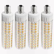 お買い得  LED コーン型電球-4本 8.5 W 1105 lm E12 LEDコーン型電球 T 125 LEDビーズ SMD 2835 調光可能 温白色 / クールホワイト 110 V
