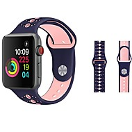 Urrem for Apple Watch Series 4/3/2/1 Apple Sportsrem / Klassisk spænde Silikone Håndledsrem