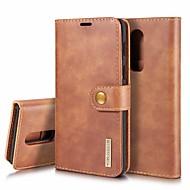 preiswerte Handyhüllen-Hülle Für OnePlus OnePlus 6 Kreditkartenfächer / Stoßresistent / mit Halterung Ganzkörper-Gehäuse Solide Hart Echtleder für OnePlus 6