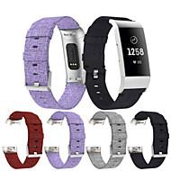 Недорогие Аксессуары для смарт-часов-Ремешок для часов для Fitbit Charge 3 Fitbit Спортивный ремешок Нейлон Повязка на запястье