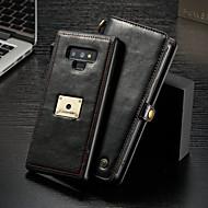 Недорогие Чехлы и кейсы для Galaxy Note-CaseMe Кейс для Назначение SSamsung Galaxy Note 9 Кошелек / Бумажник для карт / Флип Чехол Однотонный Твердый Кожа PU для Note 9