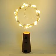 abordables Lámparas LED Novedosas-1pc Tapón de botella de vino Luz de noche LED Blanco Cálido Decoración / Lámpara de la atmósfera