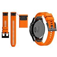 Недорогие Аксессуары для смарт-часов-Ремешок для часов для Fenix 5 / Fenix 5 Plus / Forerunner 935 Garmin Классическая застежка силиконовый Повязка на запястье