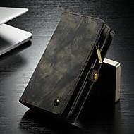 Недорогие Чехлы и кейсы для Galaxy S9 Plus-CaseMe Кейс для Назначение SSamsung Galaxy S9 Plus Кошелек / Бумажник для карт / со стендом Чехол Однотонный Твердый Кожа PU для S9 Plus