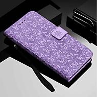 Недорогие Кейсы для iPhone 8-Кейс для Назначение Apple iPhone XR / iPhone XS Max Кошелек / Бумажник для карт / со стендом Чехол Цветы Твердый Кожа PU для iPhone XS / iPhone XR / iPhone XS Max