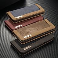 Недорогие Чехлы и кейсы для Galaxy S-CaseMe Кейс для Назначение SSamsung Galaxy S9 Plus / S7 edge Кошелек / Бумажник для карт / со стендом Чехол Однотонный Твердый текстильный для S9 / S9 Plus / S8 Plus