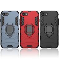 Недорогие Кейсы для iPhone 8-Кейс для Назначение Apple iPhone 8 Защита от удара / Кольца-держатели Кейс на заднюю панель Однотонный / броня Твердый ПК для iPhone 8