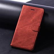 Недорогие Чехлы и кейсы для Galaxy S8-Кейс для Назначение SSamsung Galaxy S9 Plus / S9 Кошелек / Бумажник для карт / со стендом Чехол Однотонный Твердый Кожа PU для S9 / S9 Plus / S8 Plus