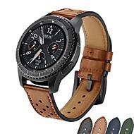 Недорогие Аксессуары для смарт-часов-Ремешок для часов для Gear S3 Frontier / Gear S3 Classic Samsung Galaxy Спортивный ремешок / Классическая застежка Натуральная кожа Повязка на запястье