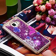 Недорогие Чехлы и кейсы для Galaxy A5(2016)-Кейс для Назначение SSamsung Galaxy A5(2016) Защита от удара / Сияние и блеск Кейс на заднюю панель Бабочка / Сияние и блеск Мягкий ТПУ для A5(2016)