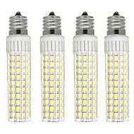 お買い得  LED コーン型電球-4本 8.5 W 1105 lm E17 LEDコーン型電球 T 125 LEDビーズ SMD 2835 調光可能 温白色 / クールホワイト 220 V