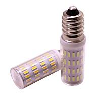 お買い得  LED コーン型電球-2pcs 4 W 360 lm E14 LEDコーン型電球 63 LEDビーズ SMD 4014 新デザイン 温白色 / クールホワイト 12 V