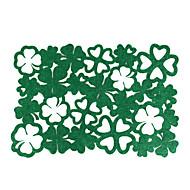 abordables Textiles para el Hogar-Hogar multifunción creativo decoración verde de cuatro hojas verde almohadilla de aislamiento hueco anti-escaldado mantel