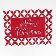 abordables Textiles para el Hogar-Hogar multifunción creativo decoración verde artesanía de navidad almohadilla de aislamiento de poliéster hueco antideslizante mantel individual