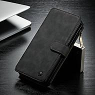 Недорогие Чехлы и кейсы для Galaxy Note-CaseMe Кейс для Назначение SSamsung Galaxy Note 8 Кошелек / Бумажник для карт / со стендом Чехол Однотонный Твердый Кожа PU для Note 8