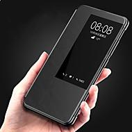 お買い得  携帯電話ケース-ケース 用途 Huawei Huawei Mate 20 Pro / Huawei Mate 20 ウィンドウ付き / フリップ / オートスリープ / ウェイクアップ フルボディーケース ソリッド ハード PUレザー のために Huawei Mate 20 pro / Huawei Mate 20
