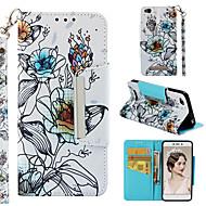 preiswerte Handyhüllen-Hülle Für Xiaomi Redmi 4a Geldbeutel / Kreditkartenfächer / Flipbare Hülle Ganzkörper-Gehäuse Blume Hart PU-Leder für Xiaomi Redmi 4A