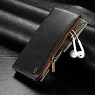 Недорогие Чехлы и кейсы для Galaxy Note-CaseMe Кейс для Назначение SSamsung Galaxy Note 9 Кошелек / Бумажник для карт / Защита от удара Чехол Однотонный Твердый Кожа PU для Note 9