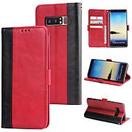 Недорогие Чехлы и кейсы для Galaxy Note 8-Кейс для Назначение SSamsung Galaxy Note 8 Кошелек / Бумажник для карт / Флип Кейс на заднюю панель Однотонный Твердый Кожа PU для Note 8
