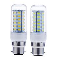 billiga -SENCART 1st 12 W LED-lampa 1600-1900 lm B22 56 LED-pärlor SMD 5730 Dekorativ Varmvit Kallvit 220-240 V 110-130 V / RoHs