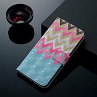 Недорогие Чехлы и кейсы для Galaxy S9-Кейс для Назначение SSamsung Galaxy S9 Plus / S9 Бумажник для карт / со стендом / Флип Чехол Полосы / волосы Твердый Кожа PU для S9 / S9 Plus / S8 Plus
