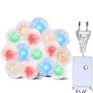 abordables Tiras de Luces LED-BRELONG® 10m Cuerdas de Luces 100 LED RGB Impermeable / Creativo / Fiesta 220-240 V
