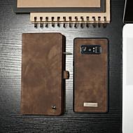 Недорогие Чехлы и кейсы для Galaxy S8 Plus-CaseMe Кейс для Назначение SSamsung Galaxy S9 Plus / Note 9 Кошелек / Бумажник для карт / со стендом Чехол Однотонный Твердый Кожа PU для S9 / S9 Plus / S8 Plus