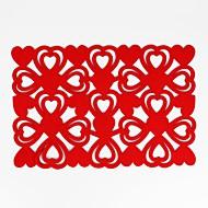 abordables Textiles para el Hogar-Hogar multifunción creativo decoración verde almohadilla de aislamiento en forma de corazón antideslizante antideslizante mantel