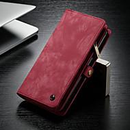 Недорогие Чехлы и кейсы для Galaxy Note-CaseMe Кейс для Назначение SSamsung Galaxy Note 9 Кошелек / Бумажник для карт / со стендом Чехол Однотонный Твердый Кожа PU для Note 9