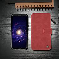 Недорогие Чехлы и кейсы для Galaxy S8-CaseMe Кейс для Назначение SSamsung Galaxy S8 Кошелек / Бумажник для карт / со стендом Чехол Однотонный Твердый Кожа PU для S8
