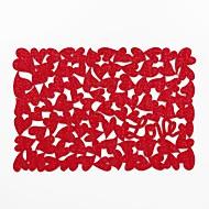 abordables Textiles para el Hogar-Hogar multifunción creativo decoración verde artesanía amor almohadilla de aislamiento de poliéster en forma de corazón antideslizante anti-escaldado mantel