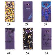 Недорогие Чехлы и кейсы для Galaxy Note-Кейс для Назначение SSamsung Galaxy Note 9 / Note 8 С узором Кейс на заднюю панель Продукты питания / Слова / выражения / Перья Мягкий ТПУ для Note 9 / Note 8