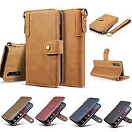 preiswerte Handyhüllen-Hülle Für Huawei P20 Pro / P20 lite Geldbeutel / Kreditkartenfächer / Stoßresistent Ganzkörper-Gehäuse Solide Hart Echtleder für Huawei P20 / Huawei P20 Pro / Huawei P20 lite