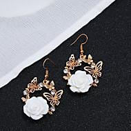 cheap -1 Pair Women's Tropical Drop Earrings - Resin Imitation Diamond Tropical Jewelry Blue / Pink / Royal Blue For Wedding Holiday Bikini