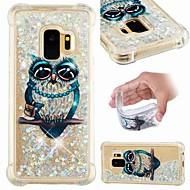 Недорогие Чехлы и кейсы для Galaxy S8 Plus-Кейс для Назначение SSamsung Galaxy S9 Plus / S8 Защита от удара / Движущаяся жидкость / Прозрачный Кейс на заднюю панель Сова / Сияние и блеск Мягкий ТПУ для S9 / S9 Plus / S8 Plus