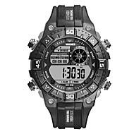 billige -Herre Sportsur Digital Watch Digital Silikone Sort Vandafvisende Selvlysende i mørke Digital Afslappet Mode - Sort