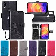 halpa -Etui Käyttötarkoitus Xiaomi Redmi Note 7 Lomapkko / Korttikotelo / Flip Suojakuori Kukka Pehmeä PU-nahka varten Redmi Huomautus 7