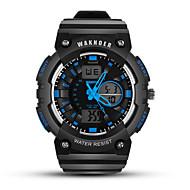 billige -Herre Sportsur Digital Watch Digital Silikone Sort Vandafvisende Selvlysende i mørke Digital Afslappet Mode - Sort / Rød Sort / Hvid Sort / Blå
