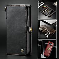 Недорогие Чехлы и кейсы для Galaxy S8 Plus-CaseMe Кейс для Назначение Huawei S9 Plus / Note 9 Кошелек / Бумажник для карт / со стендом Чехол Однотонный Твердый Кожа PU для S9 / S9 Plus / S8 Plus
