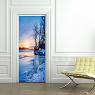 Недорогие -Декоративные наклейки на стены - Простые наклейки Пейзаж / Геометрия Гостиная / Спальня