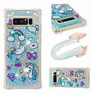 Недорогие Чехлы и кейсы для Galaxy Note 8-Кейс для Назначение SSamsung Galaxy Note 9 / Note 8 Защита от удара / Движущаяся жидкость / Прозрачный Кейс на заднюю панель Животное / Сияние и блеск Мягкий ТПУ для Note 9 / Note 8