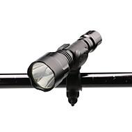 お買い得  フラッシュライト/ランタン/ライト-U'King ZQ-X1000#1 LED懐中電灯 自転車用ライト LED LED 1 エミッタ 1000 lm 3 照明モード バッテリー&チャージャー付き ズーム可能, 焦点調整可, 滑り止めグリップ キャンプ / ハイキング / ケイビング, 日常使用, サイクリング ブラック